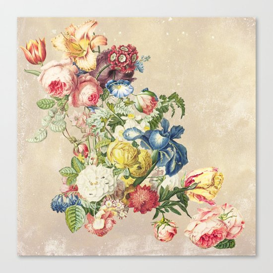 Floral tribute to Louis McNeice (Light) Canvas Print