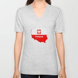 Poland map Unisex V-Neck