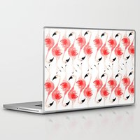 flamingos Laptop & iPad Skins featuring Flamingos! by Bouffants and Broken Hearts