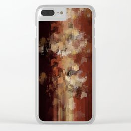 Earthly Eruption Clear iPhone Case