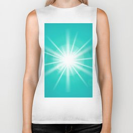 turquoise and light effect Biker Tank