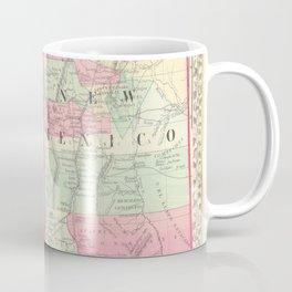 New Mexico and Arizona Map print from 1867 Coffee Mug