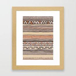 Hand-Drawn Ethnic Pattern Framed Art Print