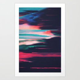 Glitched v.5 Art Print