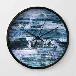 Trick or treat, dirty blue Wall Clock