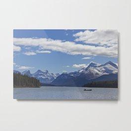 Mountains of Maligne Lake 1 Metal Print