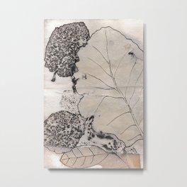 inked leaf print Metal Print