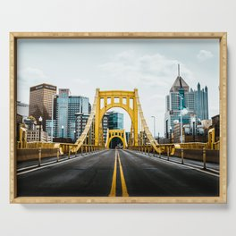 Pittsburgh Skyline Serving Tray