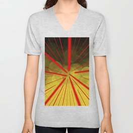 Yellow Complex Abstract Unisex V-Neck
