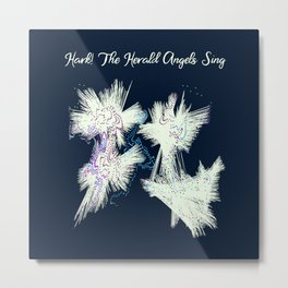 Hark! The Herald Angels Sing Christmas Abstract Metal Print