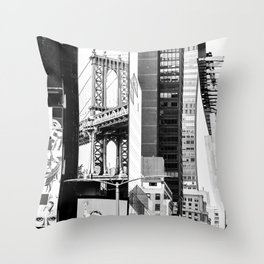 City Architecture Collage Throw Pillow