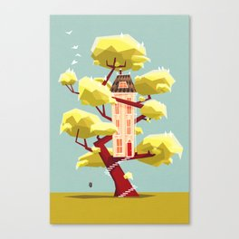 The treehouse in my dream Canvas Print