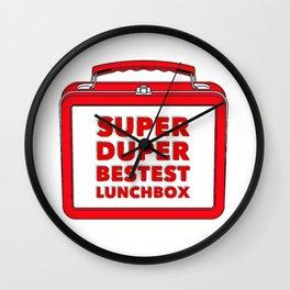 Super Duper Bestest Lunchbox Wall Clock