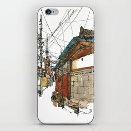 vintige city-seoul iPhone Skin