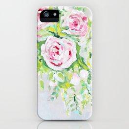 Pink rose floral bouquet iPhone Case