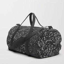 Black & Silver Glitter #1 #decor #art #society6 Duffle Bag