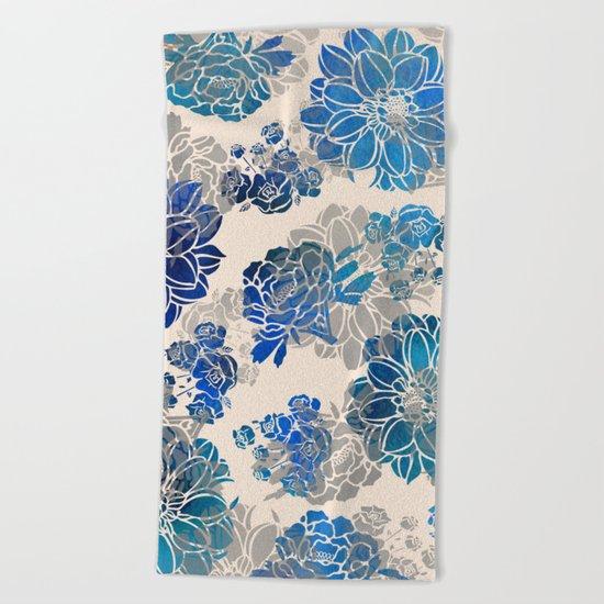 Flower Pattern Design #2 Beach Towel