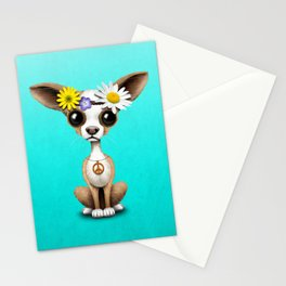 Cute Chihuahua Puppy Hippie Stationery Cards