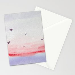 Seagulls over the Sea Stationery Cards