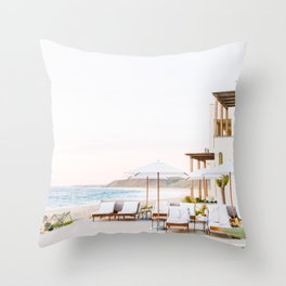 Sun-Kissed Vacations in Baja, Mexico Throw Pillow