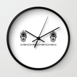 """""""Let's Face It..It's Really Guilty Until Proven Innocent"""" tee design made perfectly for your guilt! Wall Clock"""