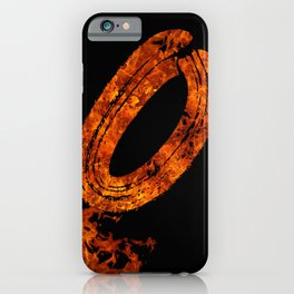 Burning on Fire Letter O iPhone Case