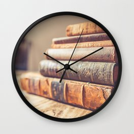 History Book Wall Clock