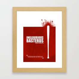 Inglourious Basterds. Minimal Movie Poster - A Quentin Tarantino Film. Framed Art Print