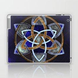 Golden Triskelion Mandala Laptop & iPad Skin
