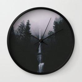 Multnomah Falls II Wall Clock
