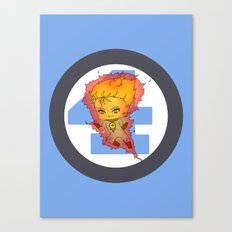 Chibi Human Torch Canvas Print