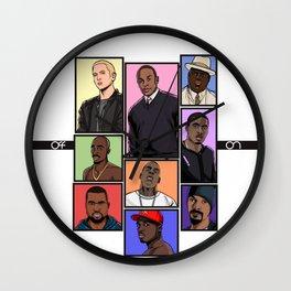 HipHop Legends Wall Clock