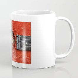 Old Vintage Acoustic Guitar with Swiss Flag Coffee Mug
