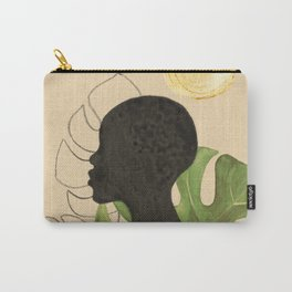 Tropical black girl Carry-All Pouch