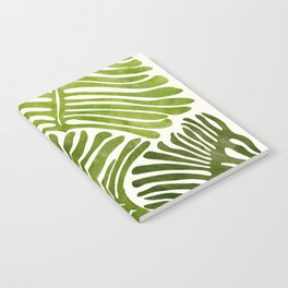 Summer Fern / Simple Modern Watercolor Notebook