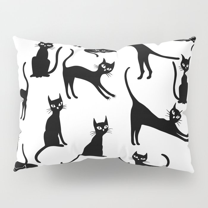 Black cats, seamless patten Pillow Sham