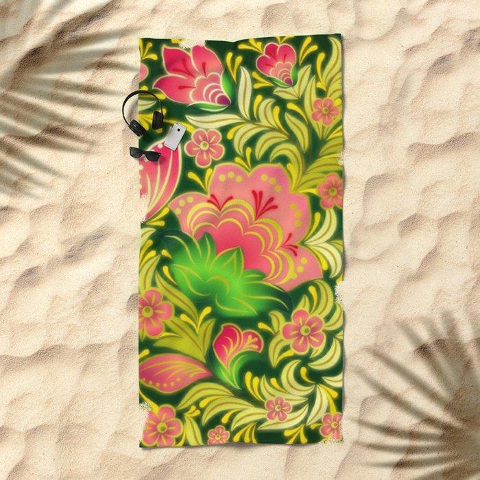 Shabby flowers #14 Beach Towel