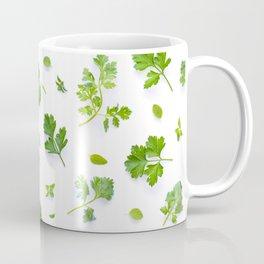 Herbs on White - Landscape Coffee Mug