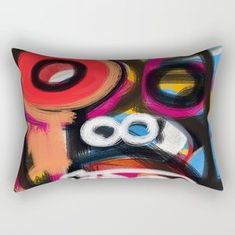 Aerosol Spray Paint Street Art Man Graffiti  Rectangular Pillow