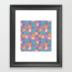RocoFlowers (strawberry) Framed Art Print