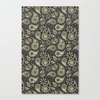 paisley Canvas Prints featuring Paisley by Sixter