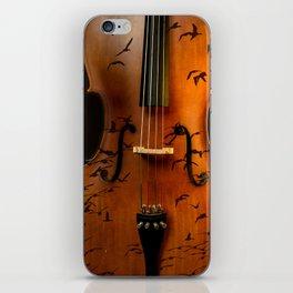 Cello bird music iPhone Skin