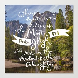 Psalm 91 with Background Canvas Print