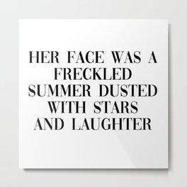 freckled summer Metal Print