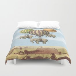 Flight of The Elephants - colour option Duvet Cover