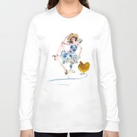 rooster Long Sleeve T-shirts featuring Rooster by Hyegallery