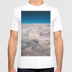 View of the sky White MEDIUM Mens Fitted Tee