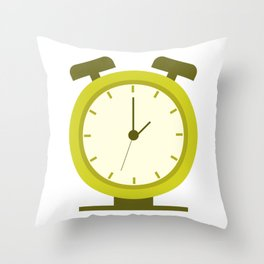 alarm clock Throw Pillow