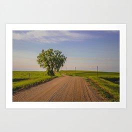 Country Road, North Dakota 10 Art Print