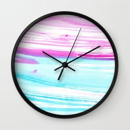 Turquoise  love #2 || watercolor Wall Clock